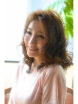ギフト ヘアー サロン(gift hair salon)華やか・ミディアムレイヤーボブ (熊本・通町筋・上通り)