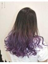 ヘアーサロン エール 原宿(hair salon ailes)(ailes原宿)style334 デザインカラー☆パープルグラデ―ション