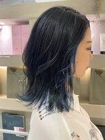 ■2020-21秋冬☆インナーブルーカラー×ブルーグレージュ■