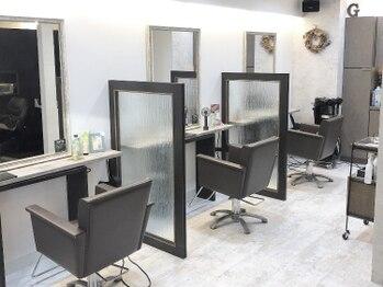 グリームス ヘアデザイン(GLEAMS Hair Design)の写真/半個室有◆大型店の様な開放的な空気が苦手な方にオススメ!!GLEAMSが日常を忘れられる癒しの一時をお届け…