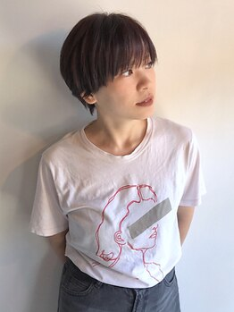 サイヘアーデザイン(Sai hair design)の写真/シンプルだからこそ技術の差が出るショート。髪質や頭の形、お悩みに合わせたカットで毎日のお手入れが楽に