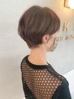 ベックヘアサロン 広尾店(BEKKU hair salon)ピンクベージュの柔らか丸みマッシュショートヘア☆