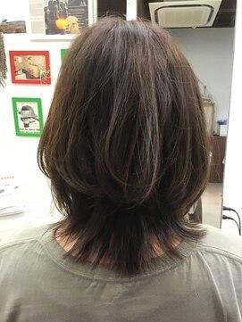 髪型 ミディアム カット