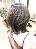 エトネ ヘアーサロン 仙台駅前(eTONe hair salon)ふんわりひし形ミディアムレイヤー20代30代40代