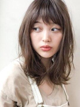 アグ ヘアー リル 志木店(Agu hair lilou)《Agu hair lilou》ゆるふわ無造作セミディ×フォギーベージュ
