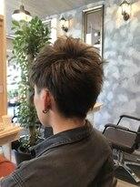 ヘアーガーデンロルド(hair garden Rold)アップバンクショートスタイル