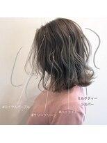 スーベニール(souvenir)■白髪対応■ハイライトカラーミルクティーグレージュエアタッチ