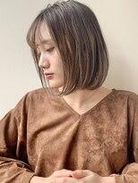 ノイ(noi)#noi_style ハイライトベージュボブ