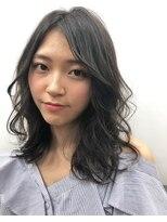 ミンクス 原宿店(MINX)MINX藤田 くびれセミディ 無造作カール ヘルシーレイヤー