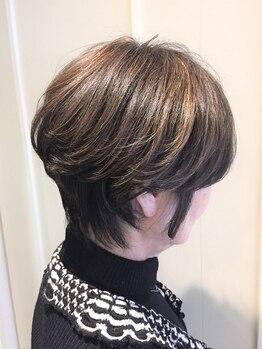 ステディー(Steady)の写真/透明感のある発色、輝くような艶に、表情まで明るく☆厳選のオーガニックカラーでヘアケア&白髪ケアを実現