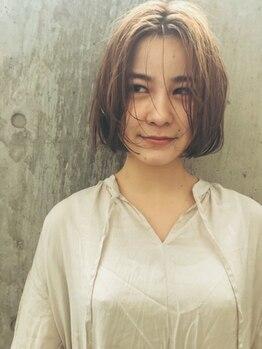 リンネルヘアー (Rin:nel hair)の写真/2ヶ月先まで見越した、オリジナルカットはシルエット重視!乾かすだけで決まるショート・ボブスタイルに♪