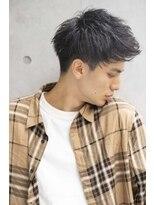 小久保style★短髪パーマプラチナアッシュブルーグレージュ