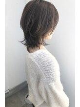 ジュエ ヘアー デザイン(Jue hair design)オリーブグレージュなソフトウルフスタイル