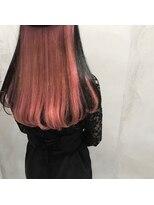 スピカ(Spica*)黒髪×ピンクインナーカラー