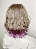 ソース ヘア アトリエ 京橋(Source hair atelier)【SOURCE】ピンクヴァイオレット裾カラー