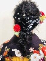 ココロ(HAIR CoCoro relaxation)袴着付け&編みおろしスタイル☆ エルサ風アレンジ☆
