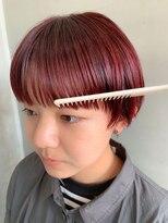 テトヘアー(teto hair)マッシュ、ワイドバング、ピンクパープル、ピンクベージュ