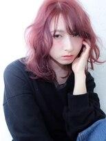 ブルーフェーセス 表参道(blue faces)『bluefaces』ピンクヘアー&シースルーバング