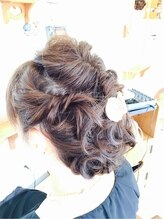クープヘア(Coupe hair)くるりんぱ+編み込み