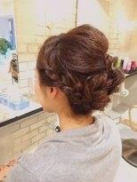 ブレッザヘアー(Brezza hair)編み込みアレンジヘア×Brezza hair 笹塚