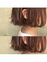 bibito切りっぱなしマニッシュな前髪デジタルパーマフレンチボブ