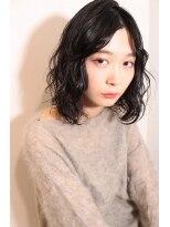 メル アミ(mer ami)無造作パーマ☆黒髪ロブ