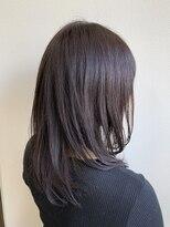 地毛風ラベンダーカラー 美髪