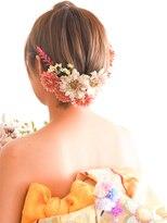 ヘアーサロン ラフリジー(Loufreasy)結婚式や二次会に♪ショートボブでもアップ風ヘアアアレンジ