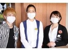 ■スタッフの感染予防とマスク着用