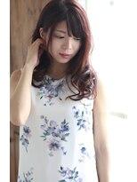 【Creo】果実系ラズベリーカラー×艶髪ロング#デザインカラー