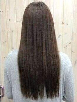 ヘアドゥポジャ 寺尾町店(Hair Do poja)の写真/【話題のアクアストレート】ヘアケアを行いながらの施術なので髪に負担をかけずサラツヤストレートが叶う♪
