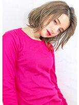 ヘアサロンガリカアオヤマ(hair salon Gallica aoyama)『ミルクティーカラー × 無造作 』外国人風・セミウェット ☆