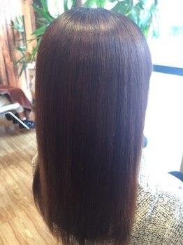 アンバー ヘアー クリエイト(Amber Hair Create)の写真/【髪質改善☆酵素カラー+カット¥8600】カラーダメージを軽減!キレイな髪で白髪カバーも同時に叶える♪