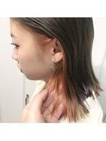 アレーン ヘアデザイン(Alaine hair design)タイトヘア×個性が出せるインナーカラー