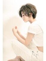 ミンクス 原宿店(MINX)【似合わせカット】リラックスカジュアルショート×ブルージュ