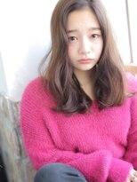 ☆デザインカラー×透け感☆リラックスセミディ☆