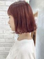 ロッジ 原宿店(RODGE)【nana】ピンクヘアー ダブルカラー 髪質改善