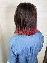 アルマヘア(Alma hair)裾カラー☆ピンク