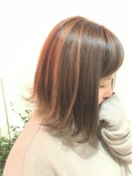 ファミーユ(Famille)の写真/希望通りの色、デザイン叶ってましたか.・・・?白髪染めだからオシャレは無理なんて諦めないで♪