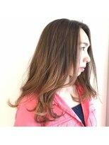 ヘアーリゾートラシックアールプラス(hair resort lachiq R+)《R+》ピンクゴールド☆ロングレイヤー