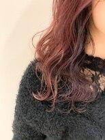 ラフィネ(raffine)こっそりインナーカラーピンク×紫《raffine大岡》
