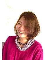 ヘアーカーブ(haircarve)haircarve夏・イノセントプラチナカラー☆エアリーボブ