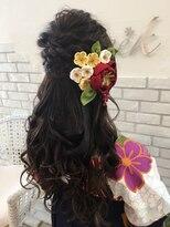 ヘアーグランデシーク(Hair Grande Seeek)華やか編み込みハーフUP 和装style♪