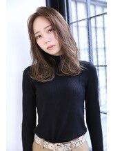 ボヌール 西梅田店(Bonheur)韓国風♪センターパートミディアム_ボブルフクールミディアム
