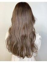 ガーデン ヘアーアンドボタニカル(Garden hair&botanical)【ロングスタイル】オイルカラー×ピンクベージュ
