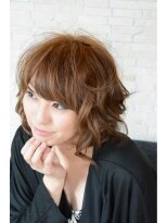 30代の透明感で勝負するゆるふわサマーヘアー☆画像