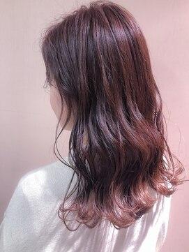 ポテト(potato)シースルーカラー × ピンク