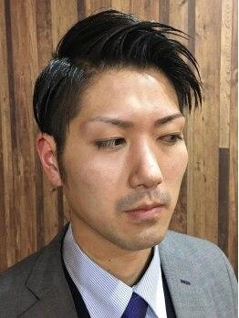 エイト ヘアワークス シンテラ(EIGHT HAIR WORKS SHIN TERA)の写真/[火・金21時、水・木23時まで営業]仕事帰りのビジネスマンの方、大歓迎!ビジネスシーンで好感度UP!