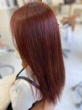 ヘアナヴォーナ (hair NAVONA)レッド、ピンク系カラー