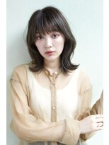 デコ(DECO)【穂積聡】髪質改善☆大人かわいいくびれミディーミントベージュ